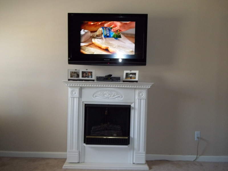 Premium Over Fireplace Concealed Wire Tv Installation