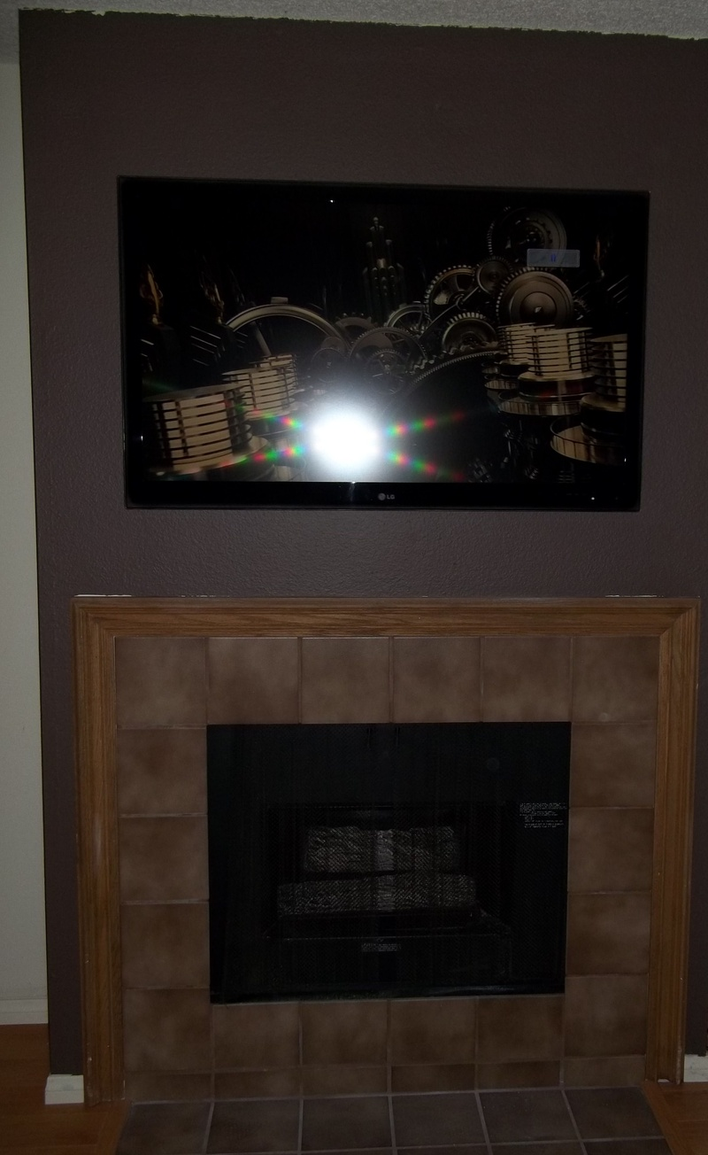LG LCD Premium Installation over fireplace