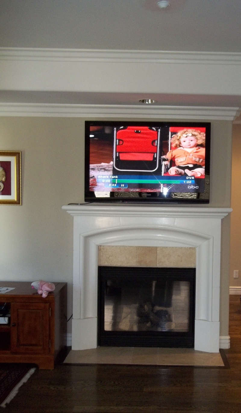 "55"" Panasonic Plasma Standard Fireplace Installation"
