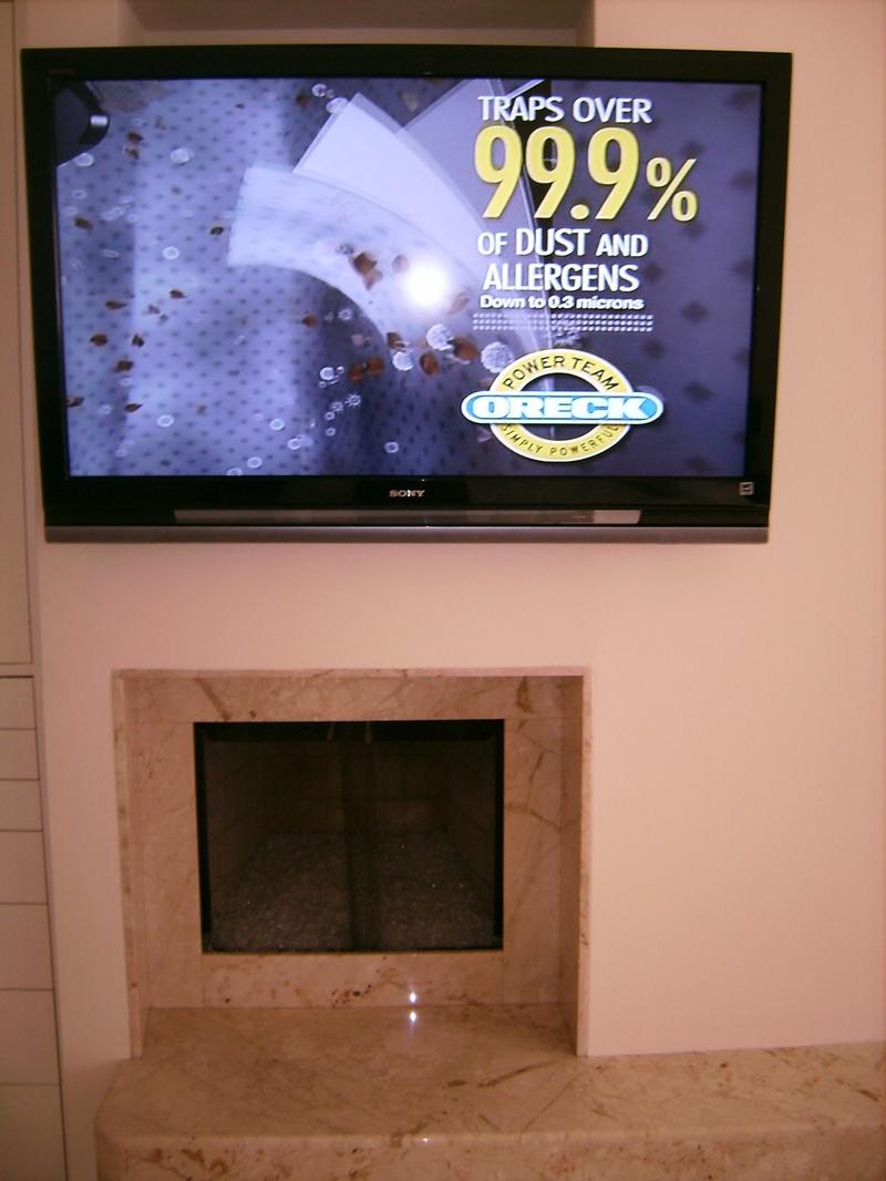 Premium Sony Plasma TV Over Fireplace