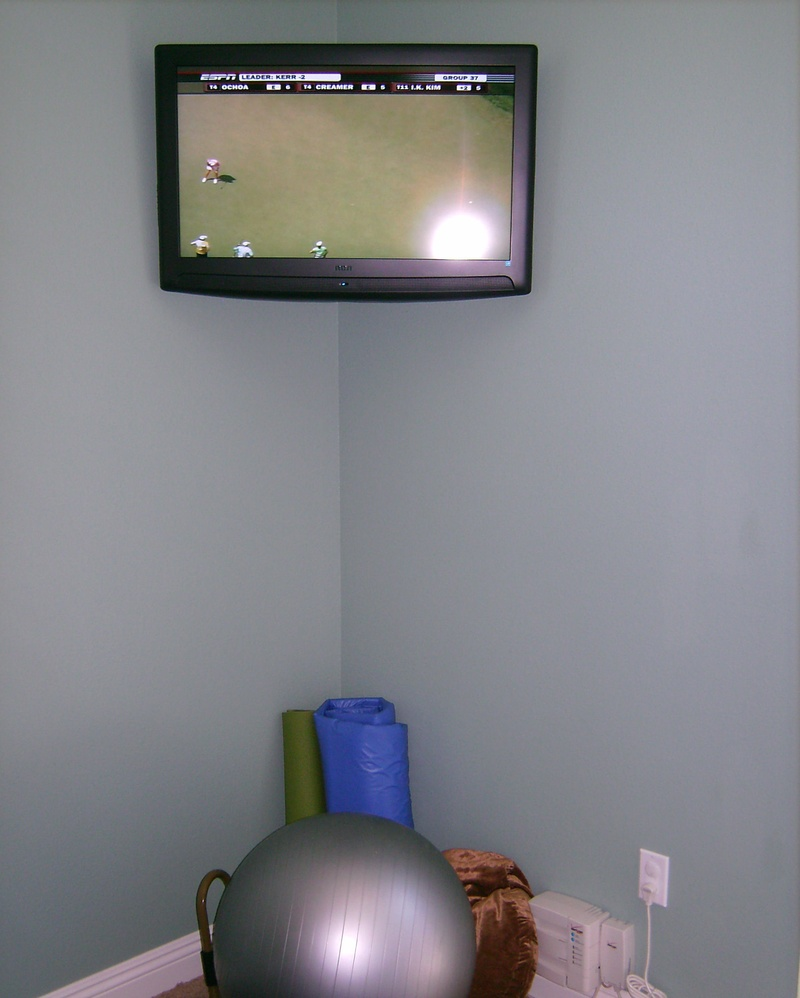 Premium LCD TV Installation in Home Gym