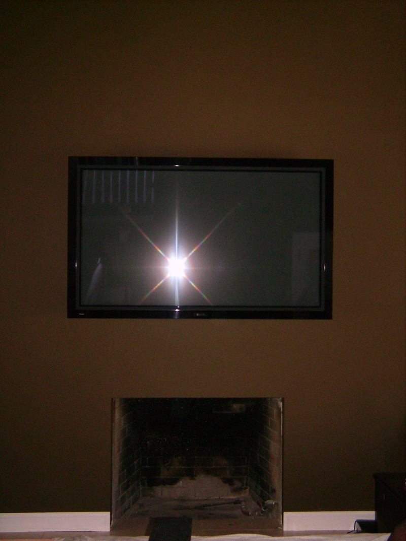Premium HDTV Fireplace Installation