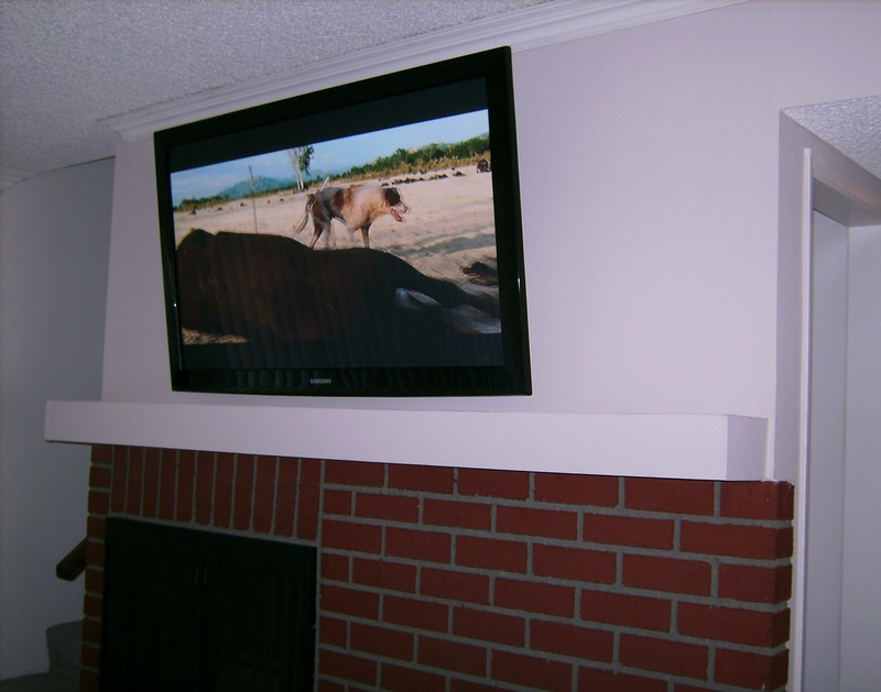 Concealed Wires over Fireplace Installation