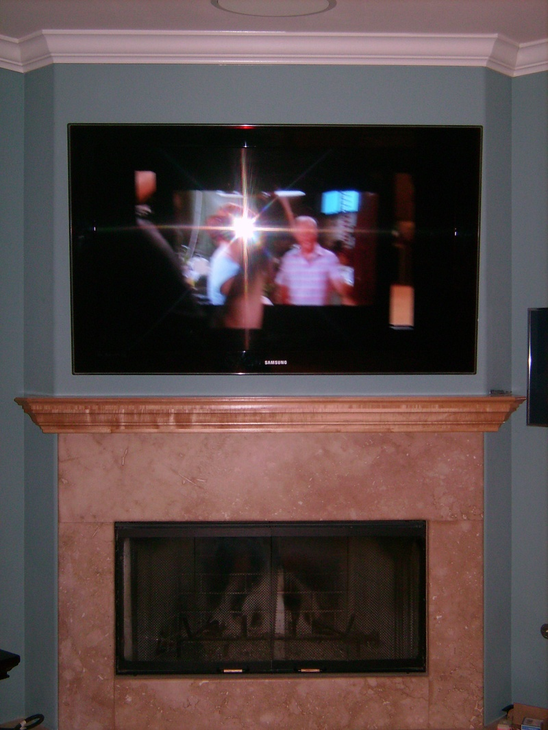 Premium Fireplace Installation of Samsung TV