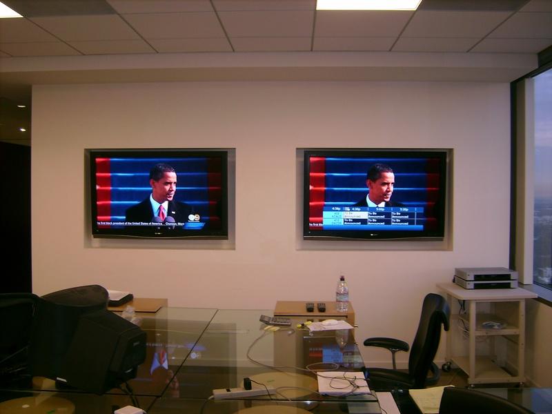 Dual Premium Office TV Installation