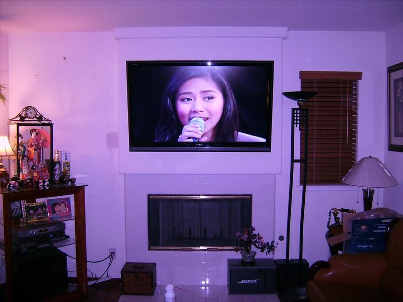 Premium Fireplace Installation of Samsung TV