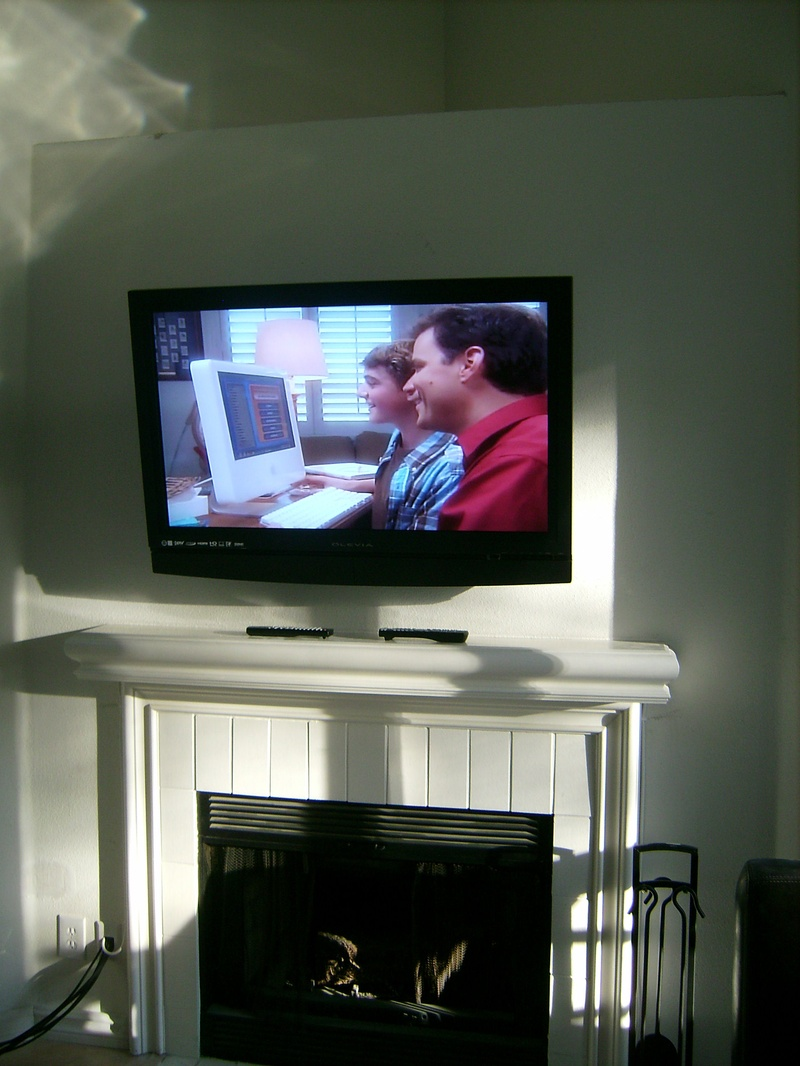 Panasonic TV Premium Fireplace Installation