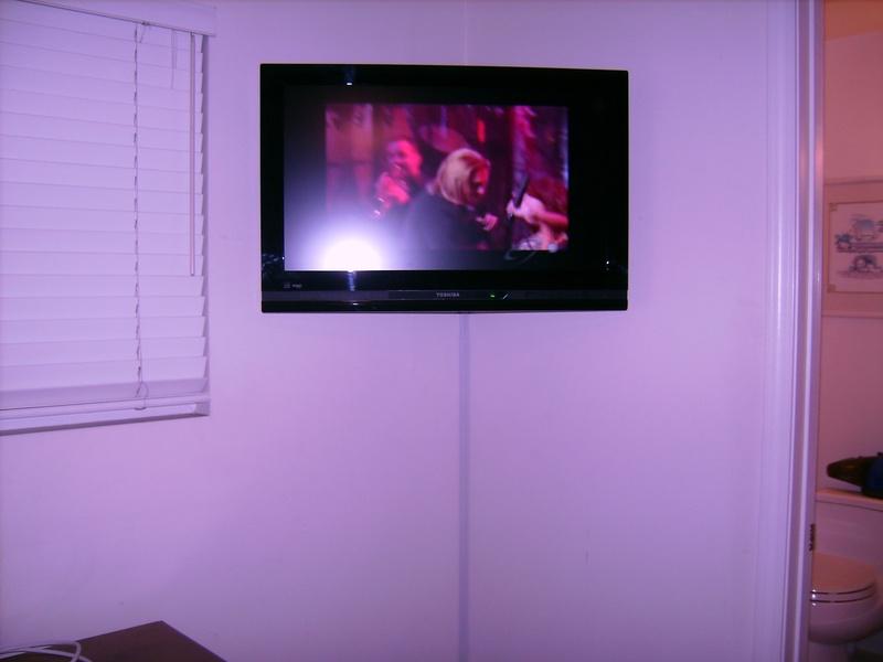 Standard Corner TV Installation with Track