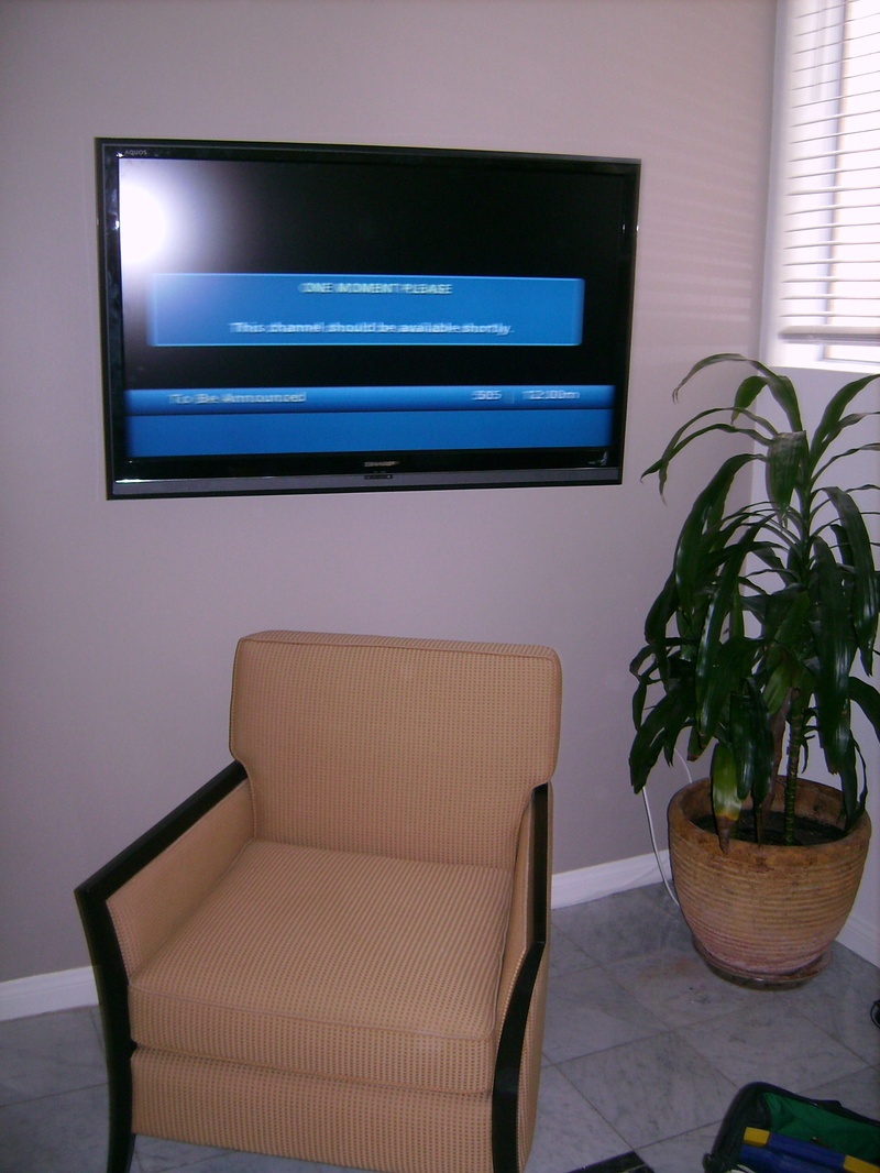 Premium TV Installation over chair