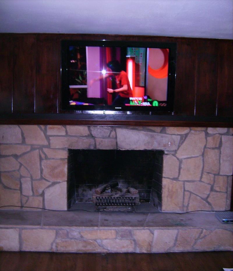 Premium Wood Wall Fireplace Installation
