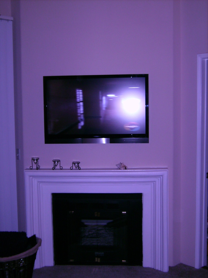 Vizio TV Installed over Fireplace