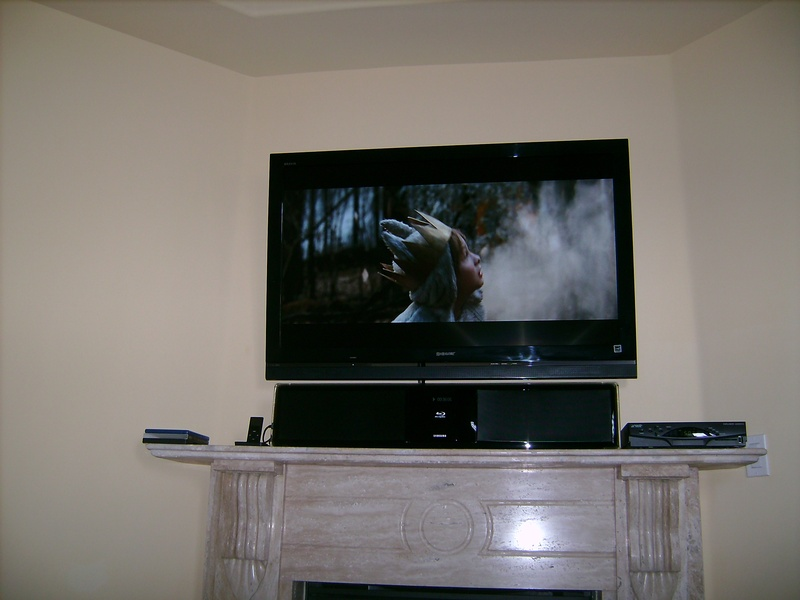 Fireplace Installation with Sound Bar