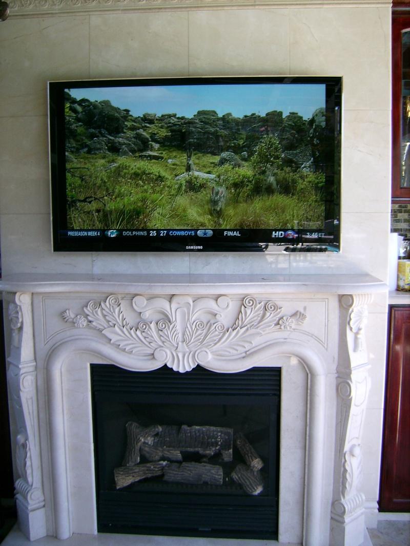 Samsung LED TV Premium Fireplace Installation