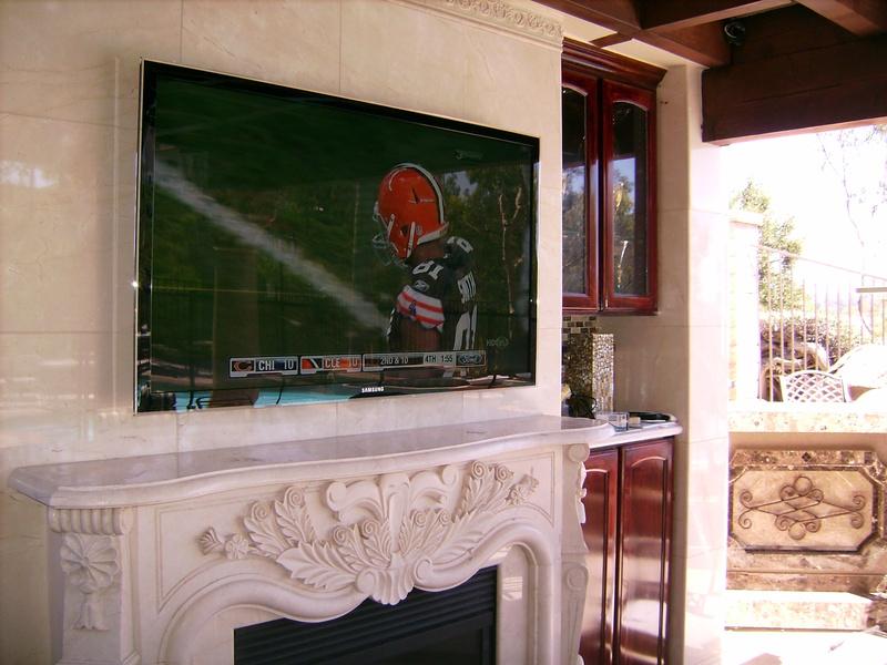 Premium Fireplace Installation Outdoors under Patio