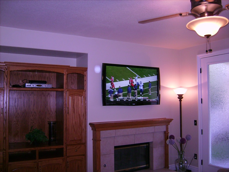 Fireplace Installation of LCD TV