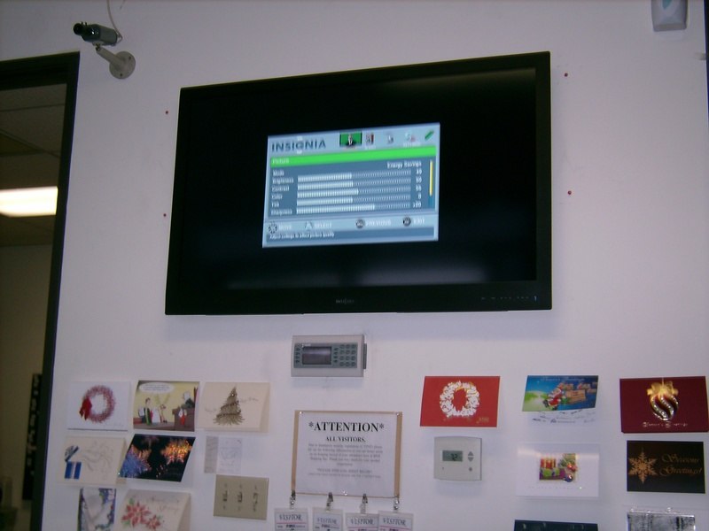 Insignia LCD TV Installed Commercial Building