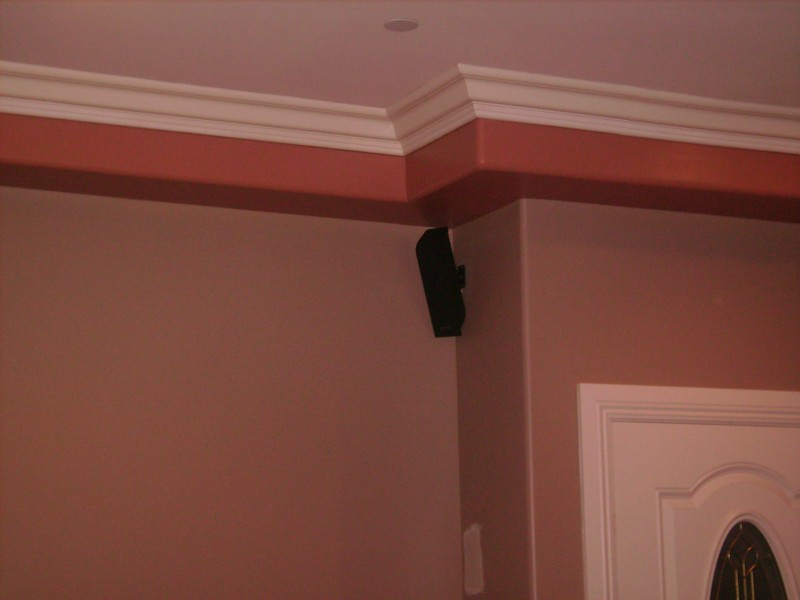 Rear Surround System Speakers in-wall Installation