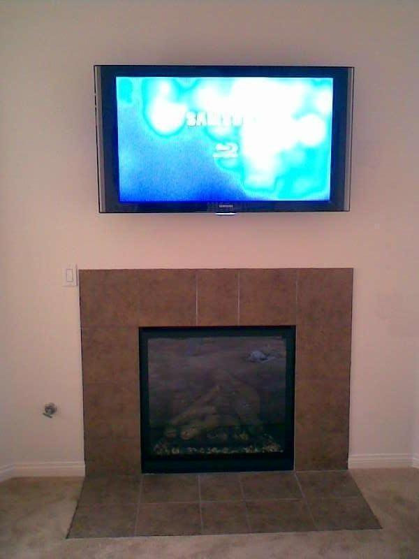 Premium Over Fireplace Installation