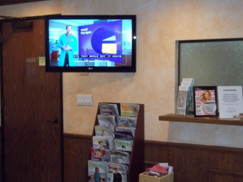 Swivel TV Installation Doctors Office