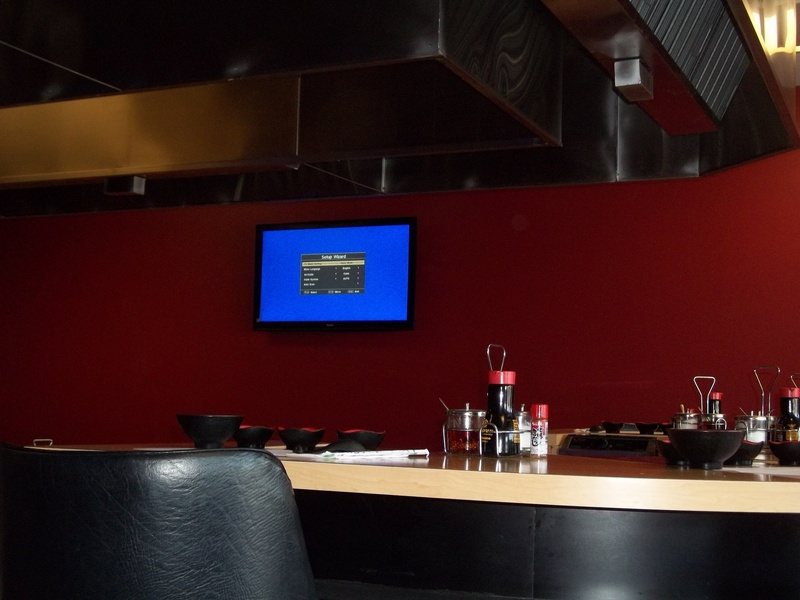 TV Installation in Restaurant