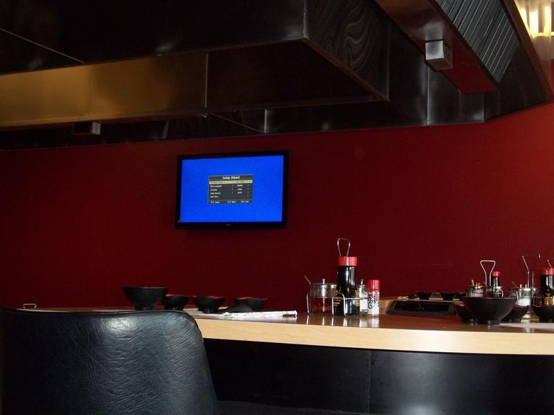 TV Installation in Restaurant