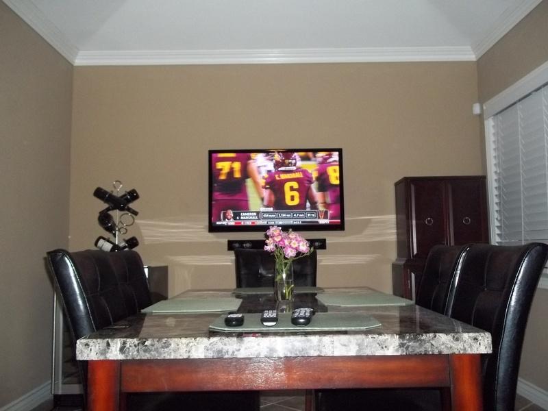Premium TV Installation Dining Room
