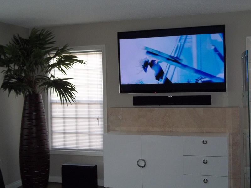 Premium TV Installation over fireplace